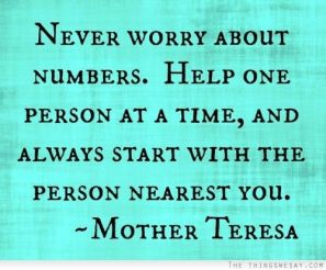 never worry about numbers